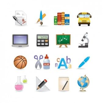 Школа icon set