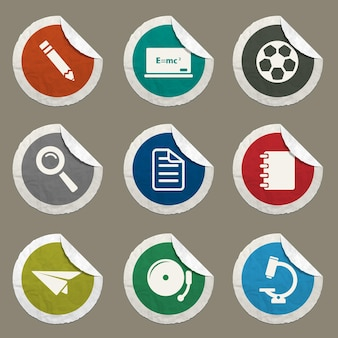 School icons set for web sites and user interface