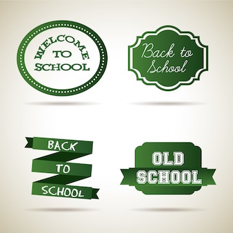 School icons over vintage background vector illustration