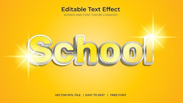 School illustrator editable text effect template design
