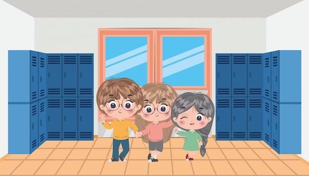 Школьники, мультфильмы, векторный дизайн
