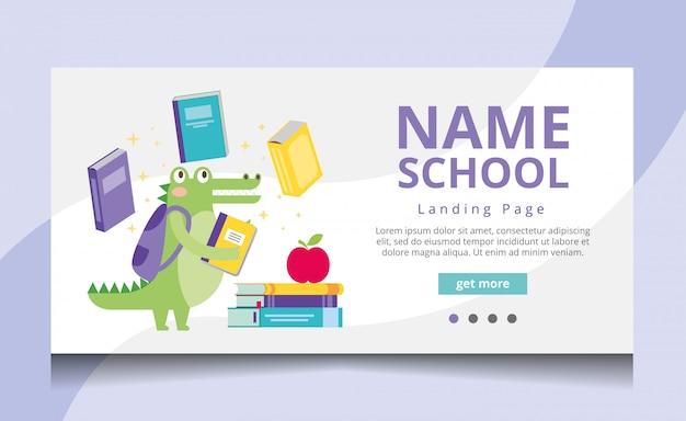 School landing page vector