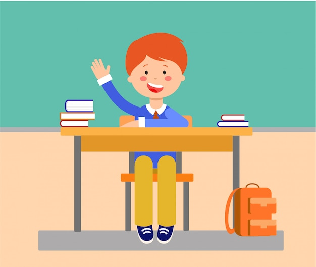 School lesson flat vector illustration