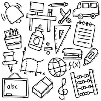 Набор школьных материалов каракули
