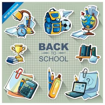 School material doodle set