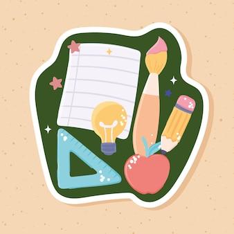 Школьный бумажный карандаш
