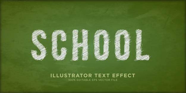 School pencil sketch text effect design style effect