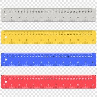 School plastic measuring ruler with centimeters and inches scale