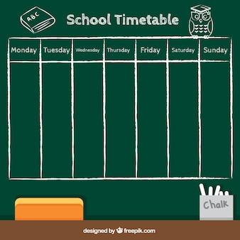 School schedule in blackboard