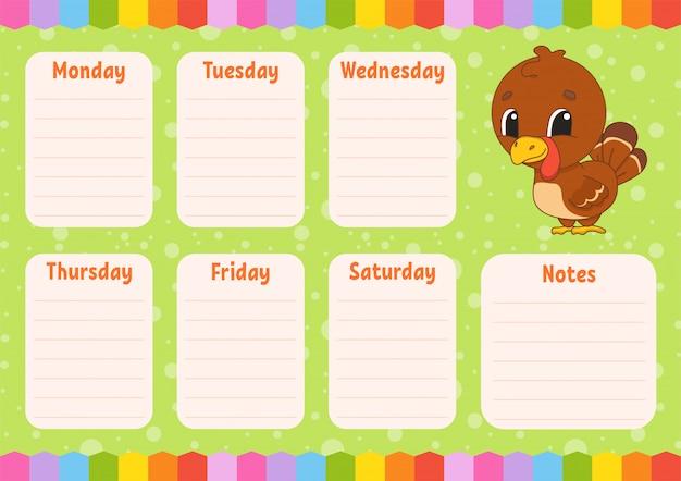 School schedule.