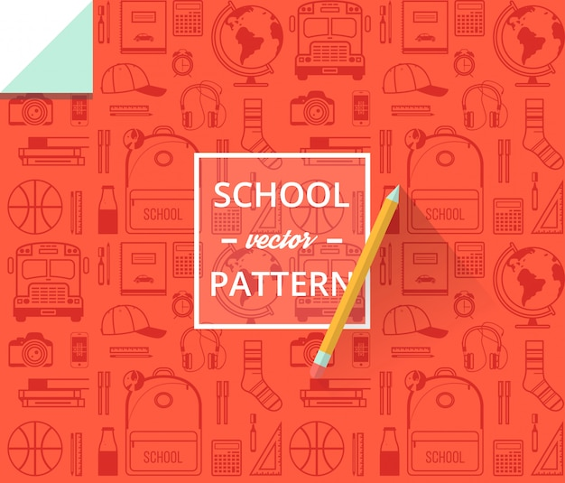 School seamless pattern. back to school illustration for wrapping paper.