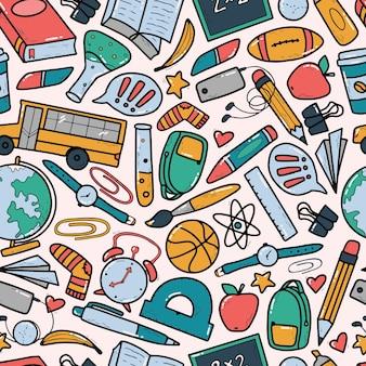 다채로운 낙서와 학교 원활한 패턴