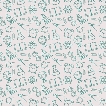 School seamless patterns. vector background.
