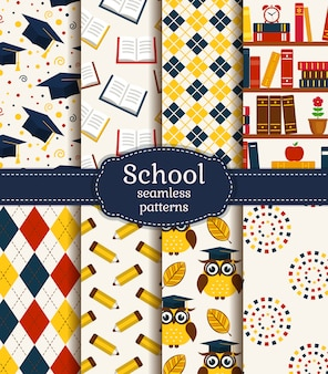 School seamless patterns