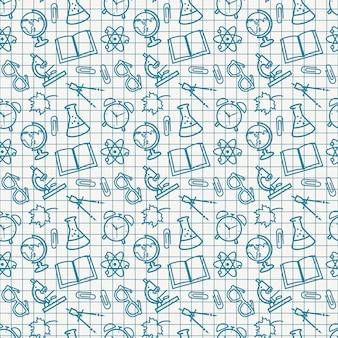 School seamless patterns