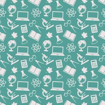 School seamless patterns.