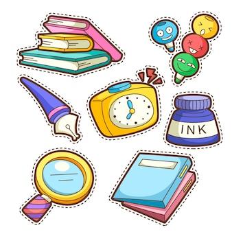 School set. set of different school items,  illustration.