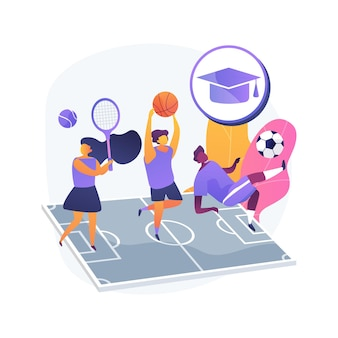 School sports team abstract concept   illustration. school children club, competitive team sports for kids, after-school activity, local tournament, athletic exercise