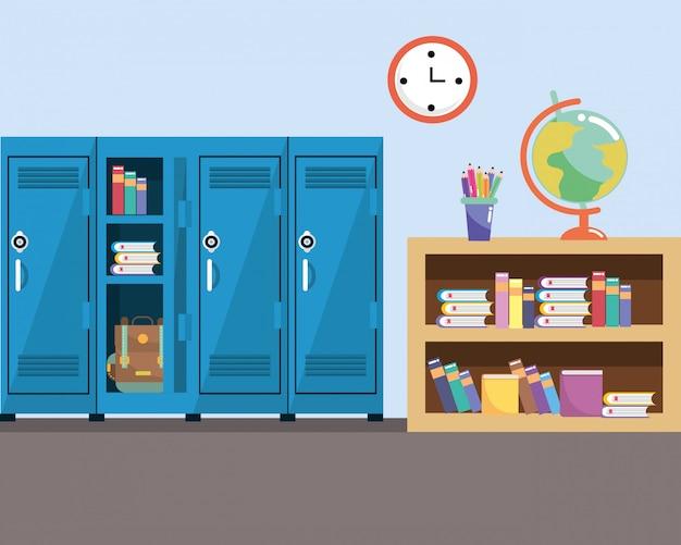 School study classroom cartoon
