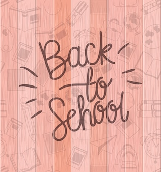 School supplies back to school pattern