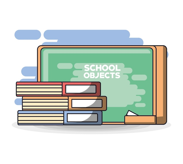 School supplies books education concept