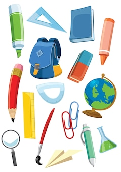 School supplies set