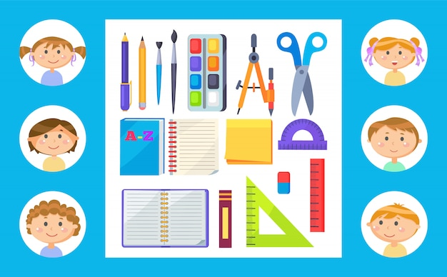 School supplies or stationery