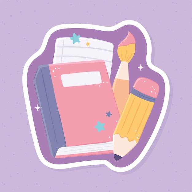 School supplies sticker