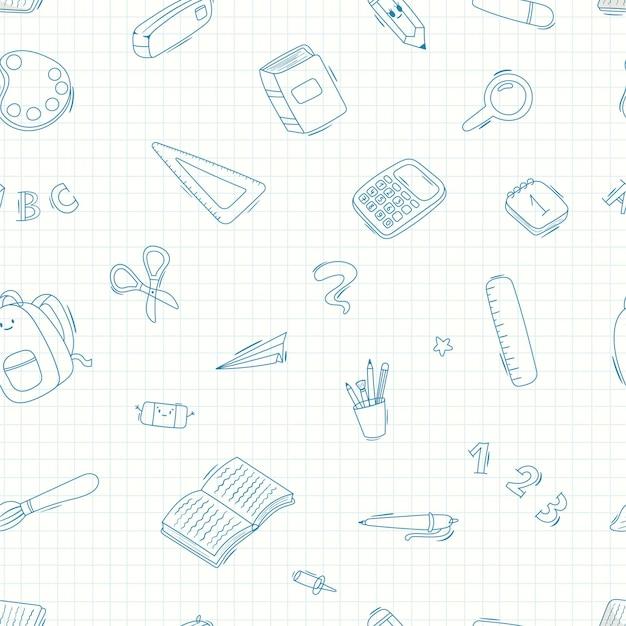 School supplies, writing supplies illustration