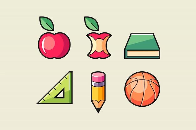 School symbol set