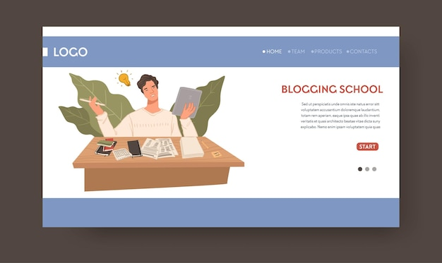School teaching about blogging and writing web