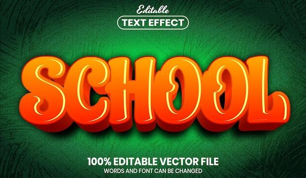 School text, font style editable text effect