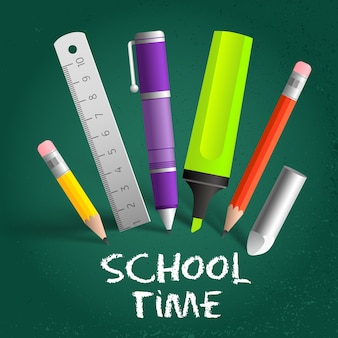 School time composition background