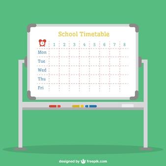 School timetable in a modern blackboard