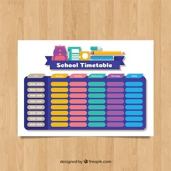 School timetable to organize