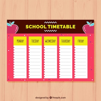 School timetable to organize
