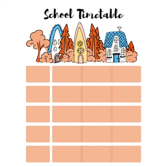 School timetable schedule back to school.