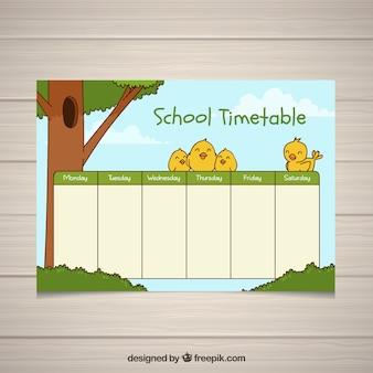 Modello di orario scolastico per organizzare le attività