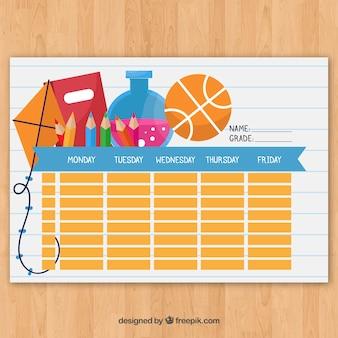Modello di orario scolastico da organizzare