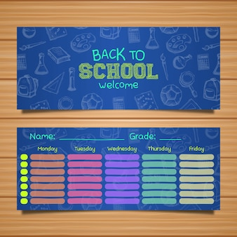 School timetable template to organize