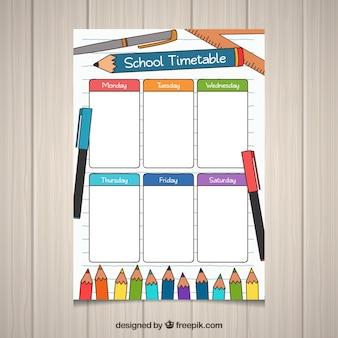 Шаблон школьного расписания для организации мероприятий