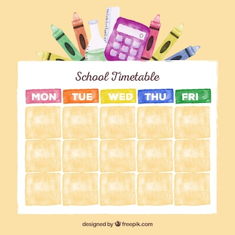 School timetable template