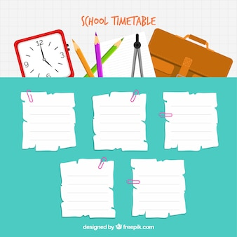 School timetable to organize activities