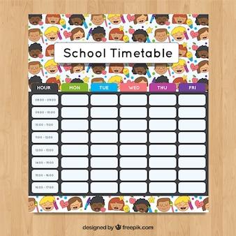 School timetable to organize activities