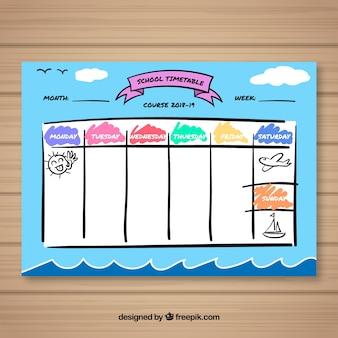 活動を組織するための授業時間割