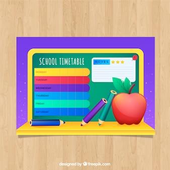 Orario scolastico con apple