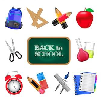 School tool realistic icon