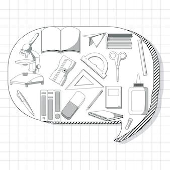School utensils cartoons