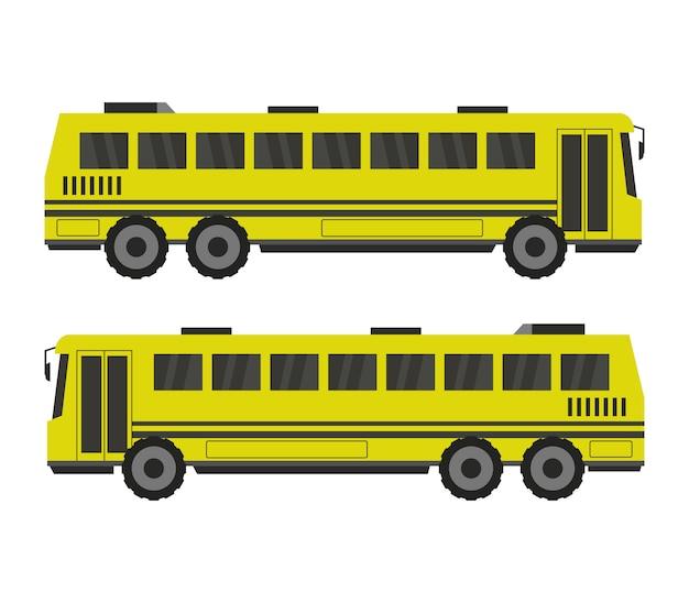 Schoolbus on white