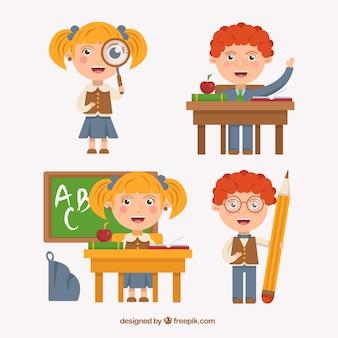Школьники иллюстрация